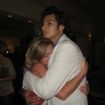 Jessica Price Hugging Elvis After America's Got Talent